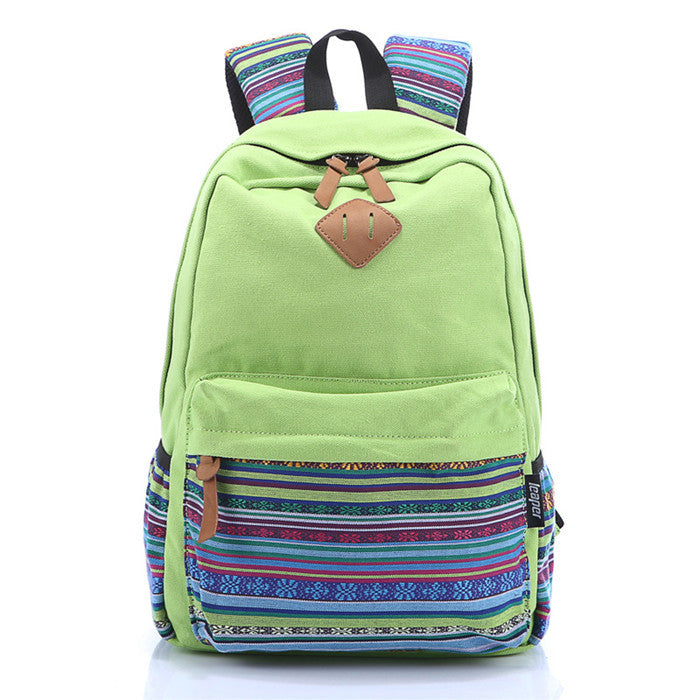 Canvas School Backpack - Baliva