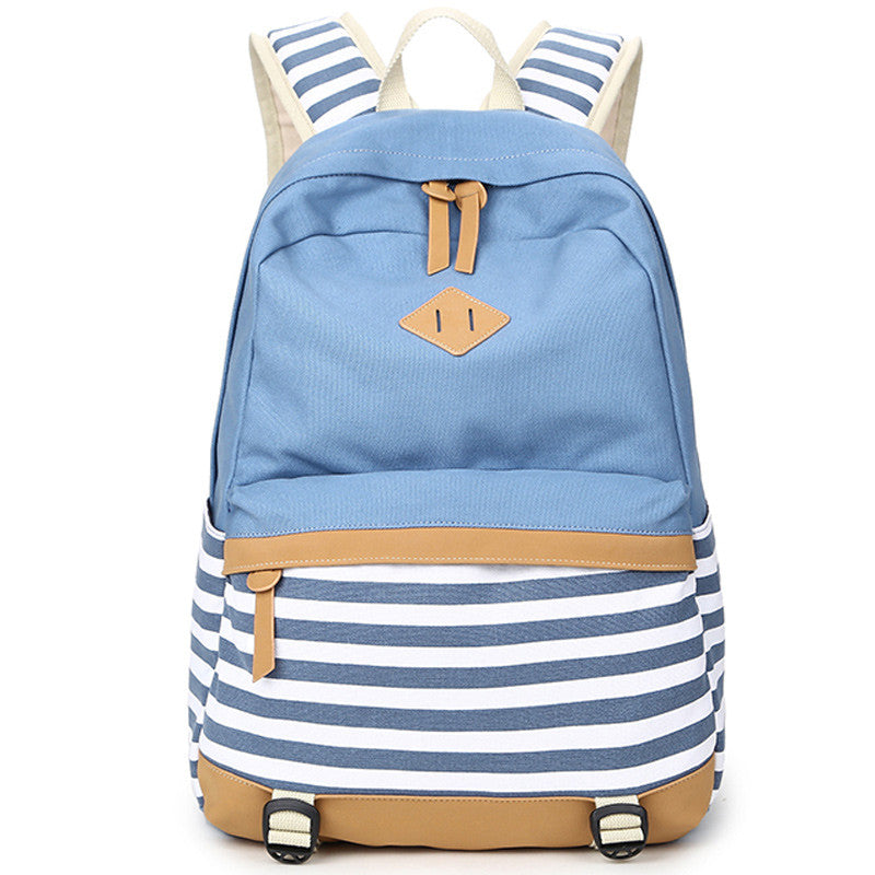 Canvas Striped Backpack - Baliva