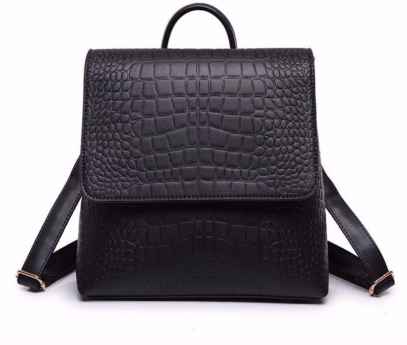 Classic Alligator Skin Backpack - Baliva