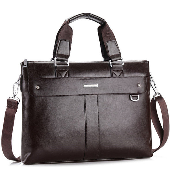 Casual Leather Briefcase - Baliva