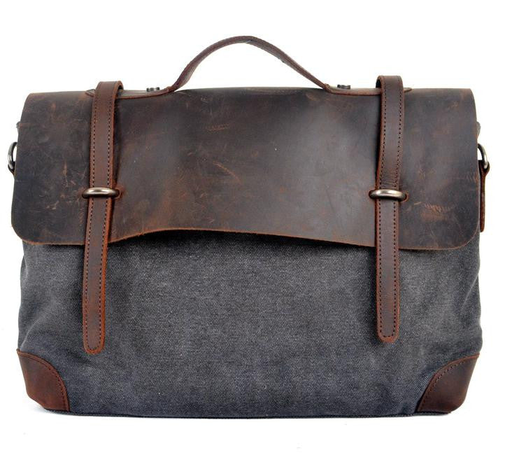Leather Canvas Carryon - Baliva