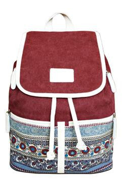 Canvas Hippie Backpack - Baliva