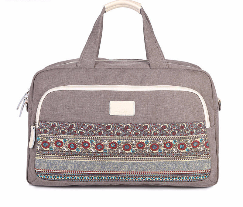 Canvas Floral Duffel Bag - Baliva