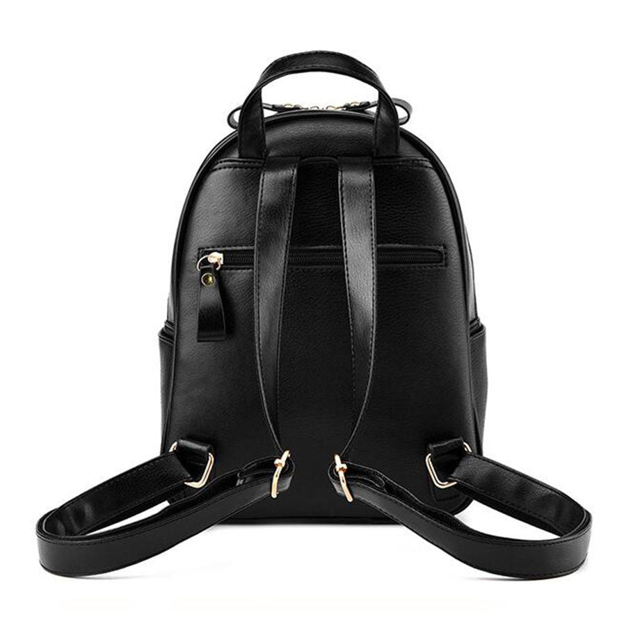 Leather Button Backpack - Baliva