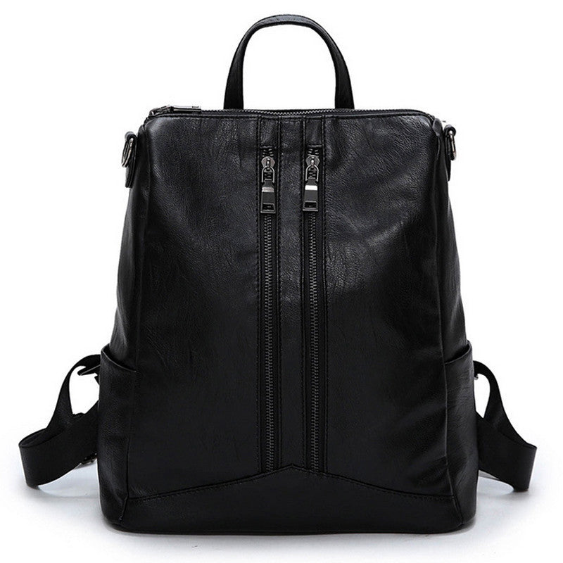 Leather Shoulder Backpack - Baliva