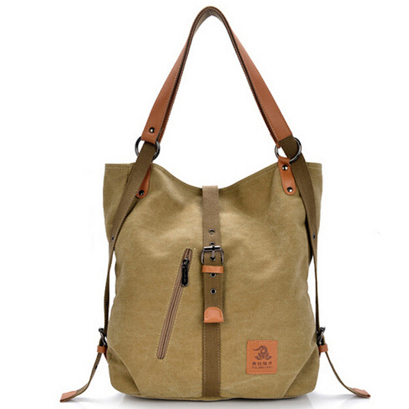 2-in-1 Convertible Canvas Tote Bag - Baliva