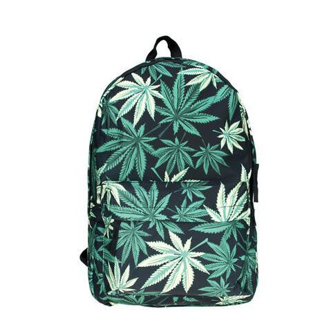 Green Leafs Book Bag - Baliva