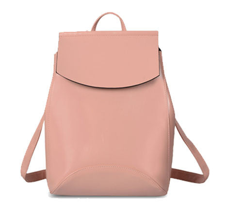 Solid Leather Hipster Backpack - Baliva