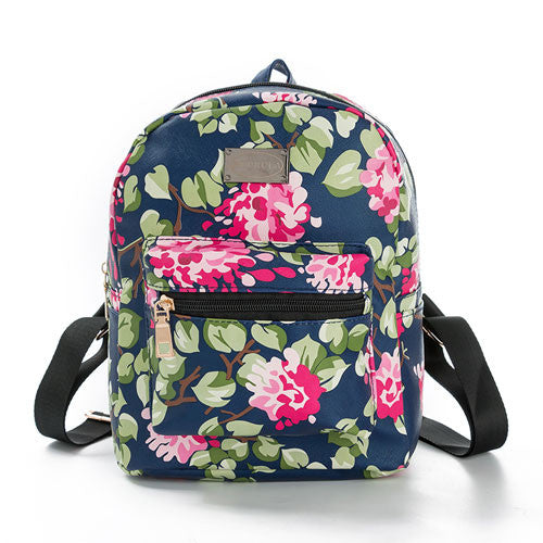 Small Floral Fashion Backpack for Teens - Baliva