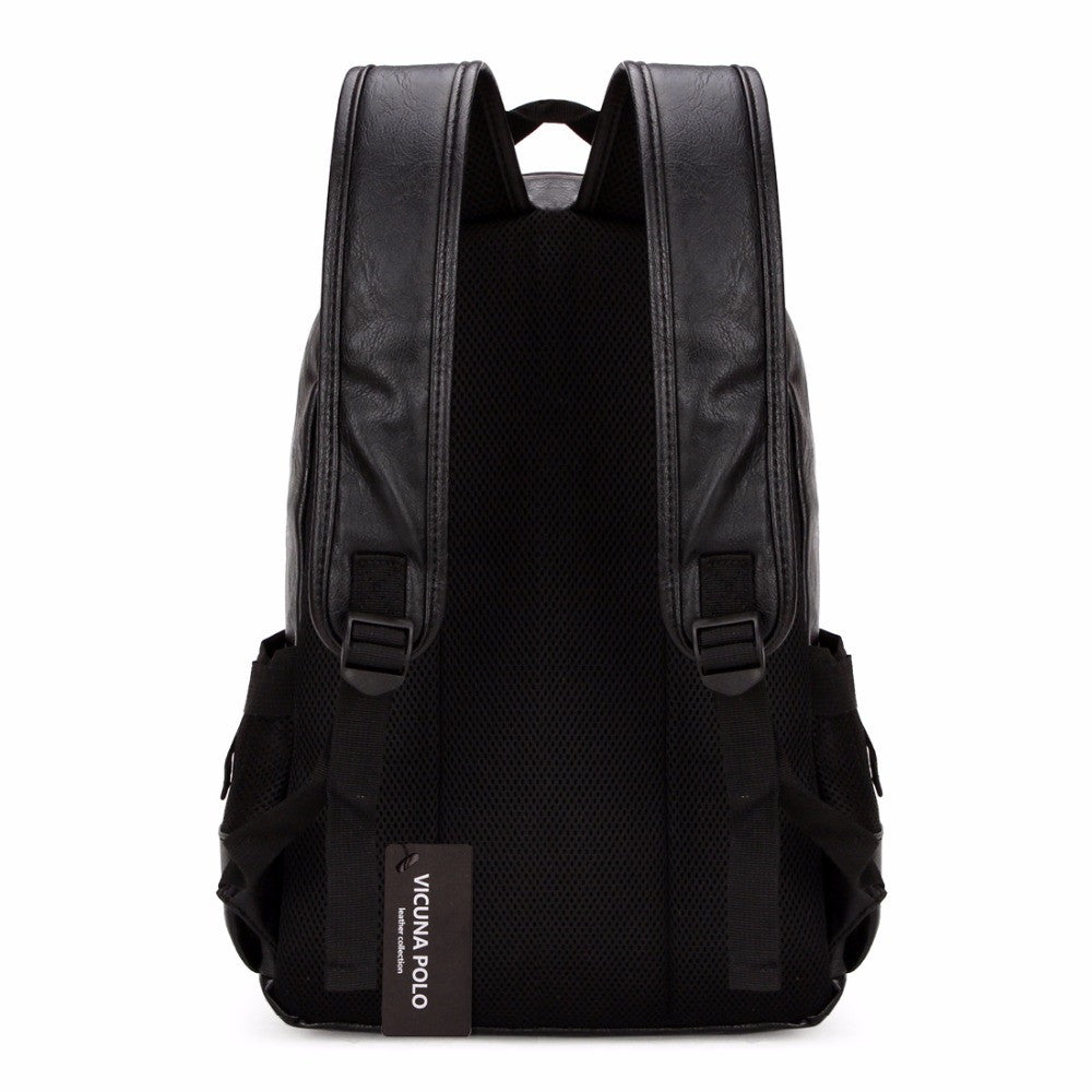 Casual Student Leather Backpack - Baliva