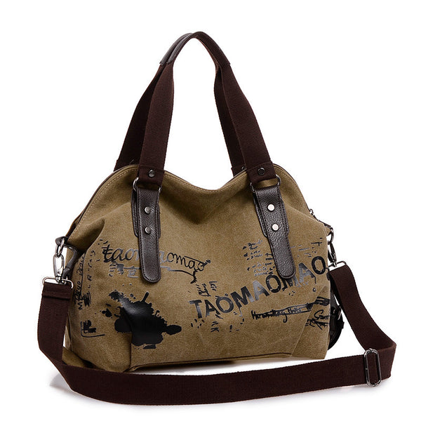Canvas Messenger Handbag - Baliva