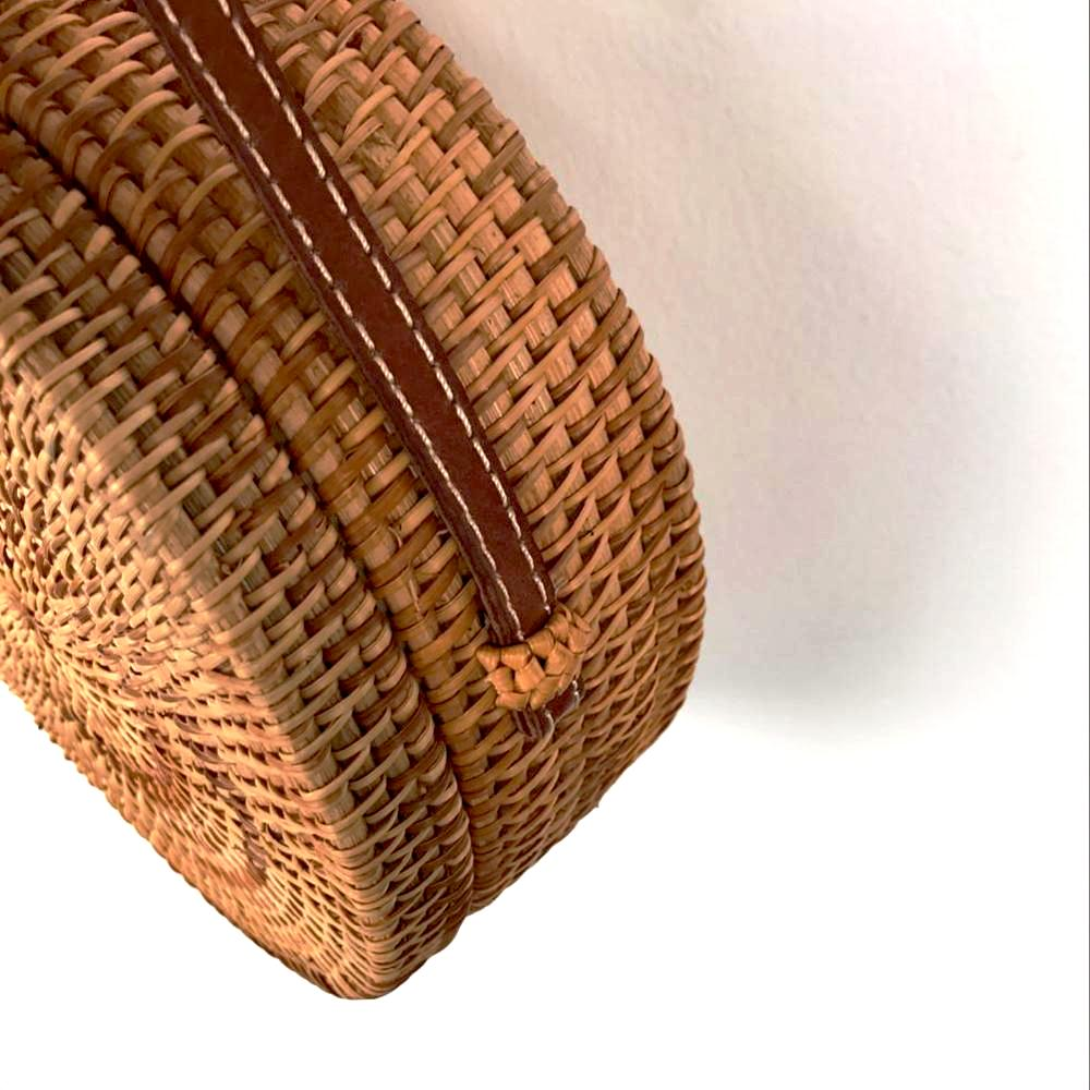 Hand Woven Bohemian Shoulder Straw Bag - Baliva