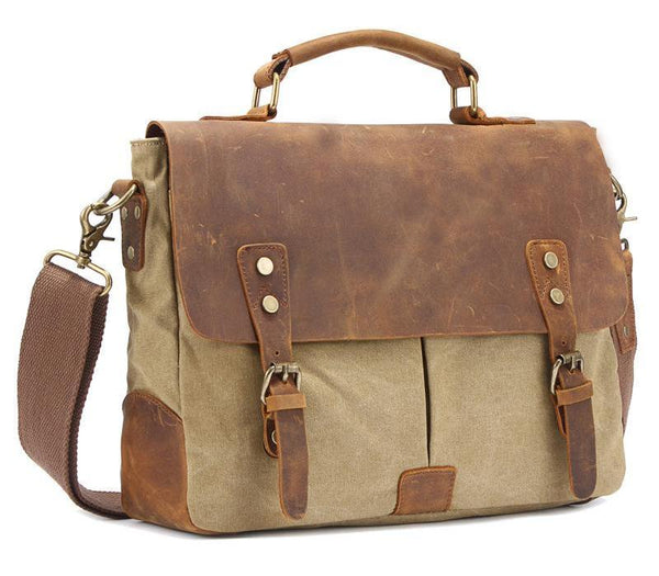 Canvas Shoulder Messenger Laptop Bag - Baliva