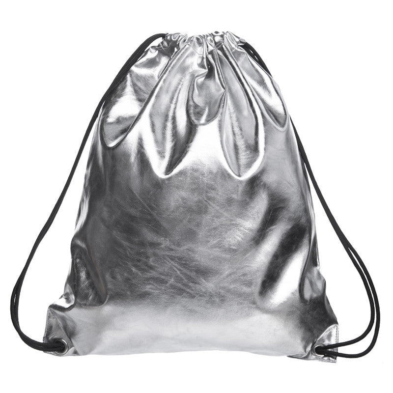 Faux Leather Drawstring Backpack - Baliva