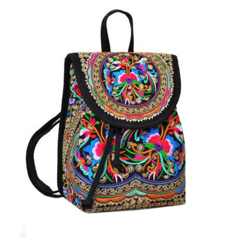 Classic Flower Drawstring Backpack - Baliva
