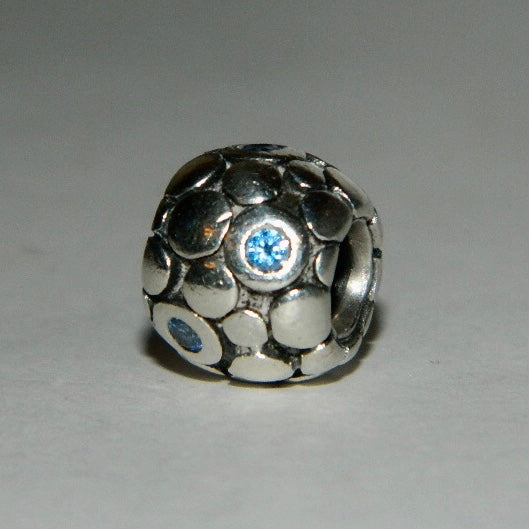 Authentic Pandora Charm Blue Bubbles S925 Ale 790329CZB