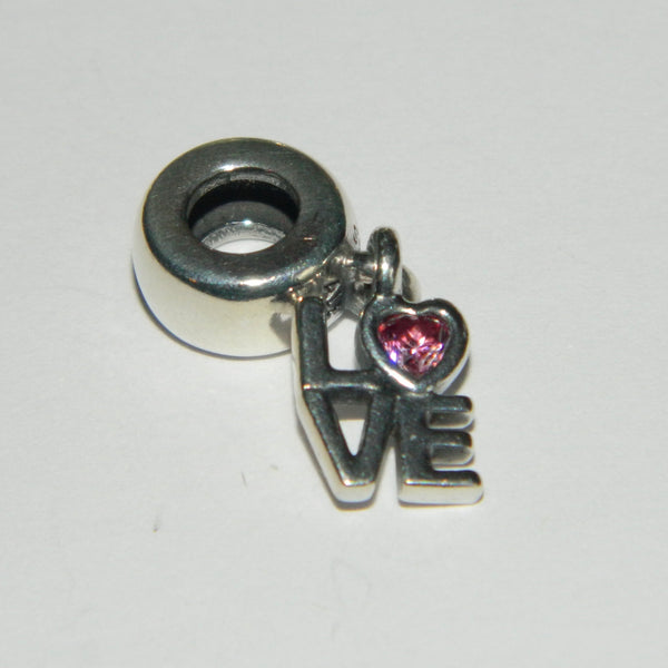 Authentic Pandora Charm All About Love Pink CZ S925 Ale 791253CZS