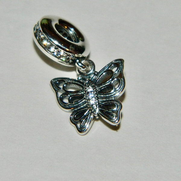 Authentic Pandora Charm Love Takes Flight Butterfly S925 Ale 791255CZ