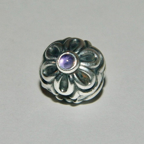 Authentic Pandora Charm Amethyst Zinnia Clip S925 Ale 790953AM