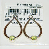 Authentic Pandora Compose Earrings Peridot Drop Dangle 925 Ale 290622PE