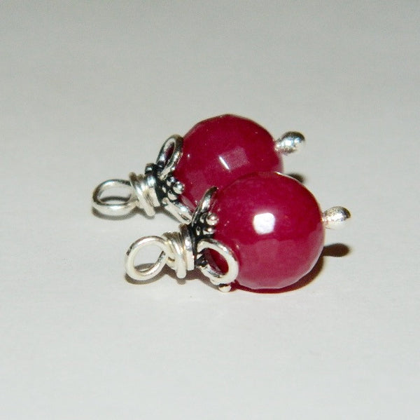 Authentic 925 Sterling Silver Ruby Compose Earring Charm