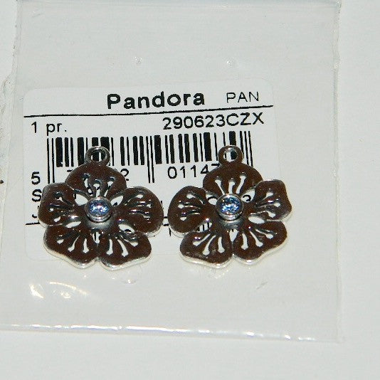 05c1e8e78 Authentic Pandora Compose Earrings Blue Flower S925 Ale 290623CZX – JC  Norms Jewelry & Collectibles