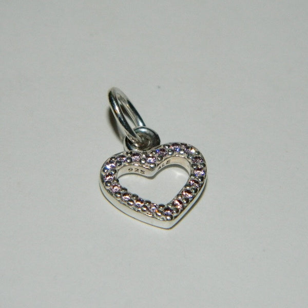 Authentic Pandora Charm Be My Valentine Pink Heart S925 Ale 390325PCZ