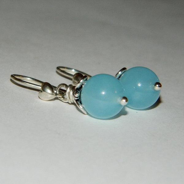 50ffb58d7 ... Authentic Pandora Heart Earrings S925 Ale with Genuine Aquamarine  Compose Charm ...