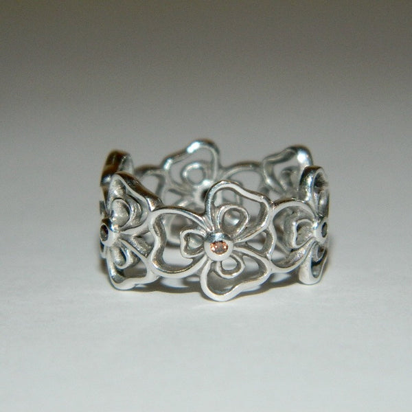 Authentic Pandora Ring Posey Flower S925 Ale 190601CZB-53 Size 6