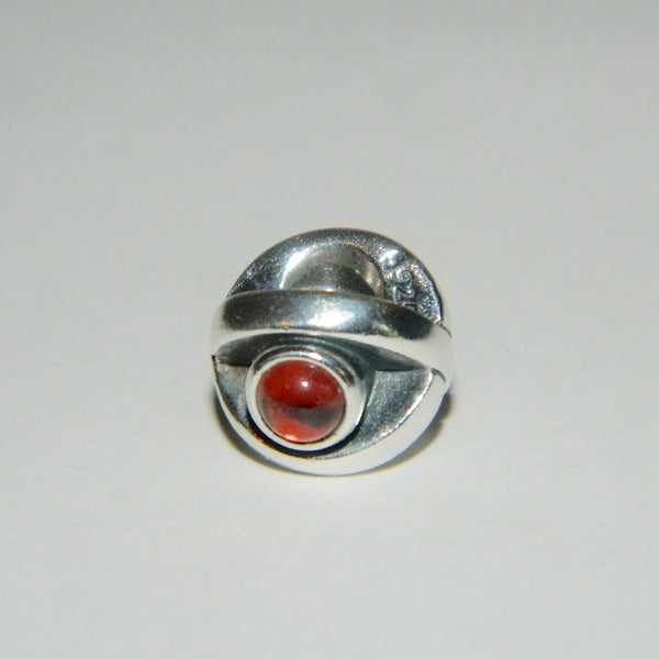 Authentic Pandora Charm Garnet Eye S925 Ale 790127GR