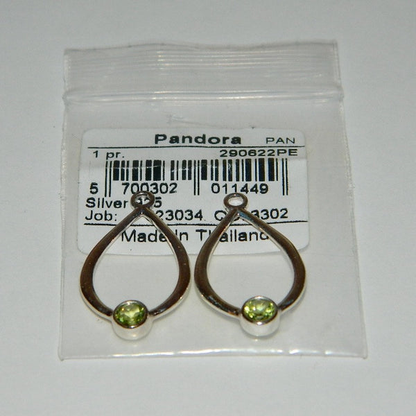 6e70b1ba9 ... Authentic Pandora Compose Earrings Peridot Drop Dangle 925 Ale 290622PE  ...