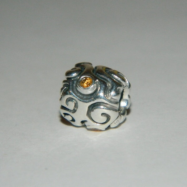 Authentic Pandora Charm Yellow Daydream S925 Ale 790548CZM