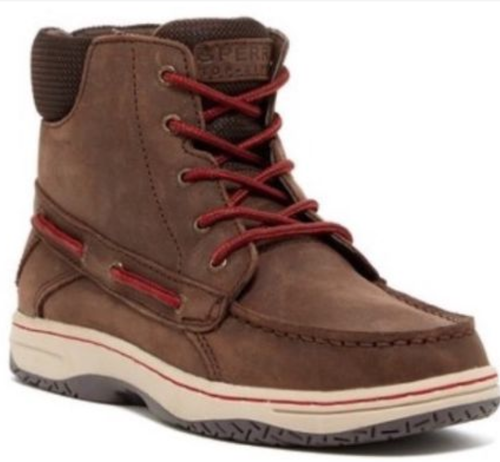 Boy's Sperry Billfish Boot. Chocolate