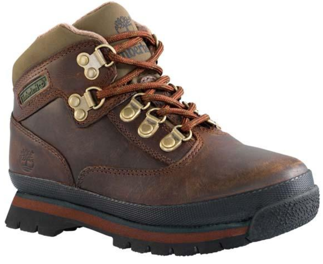 Boy's Timberland Euro Waterproof Hiker. Brown