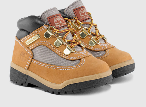 Timberland Toddler Waterproof Field Boots. Wheat