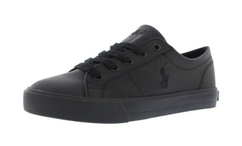 Boy's Polo Scholar Low. Triple Black