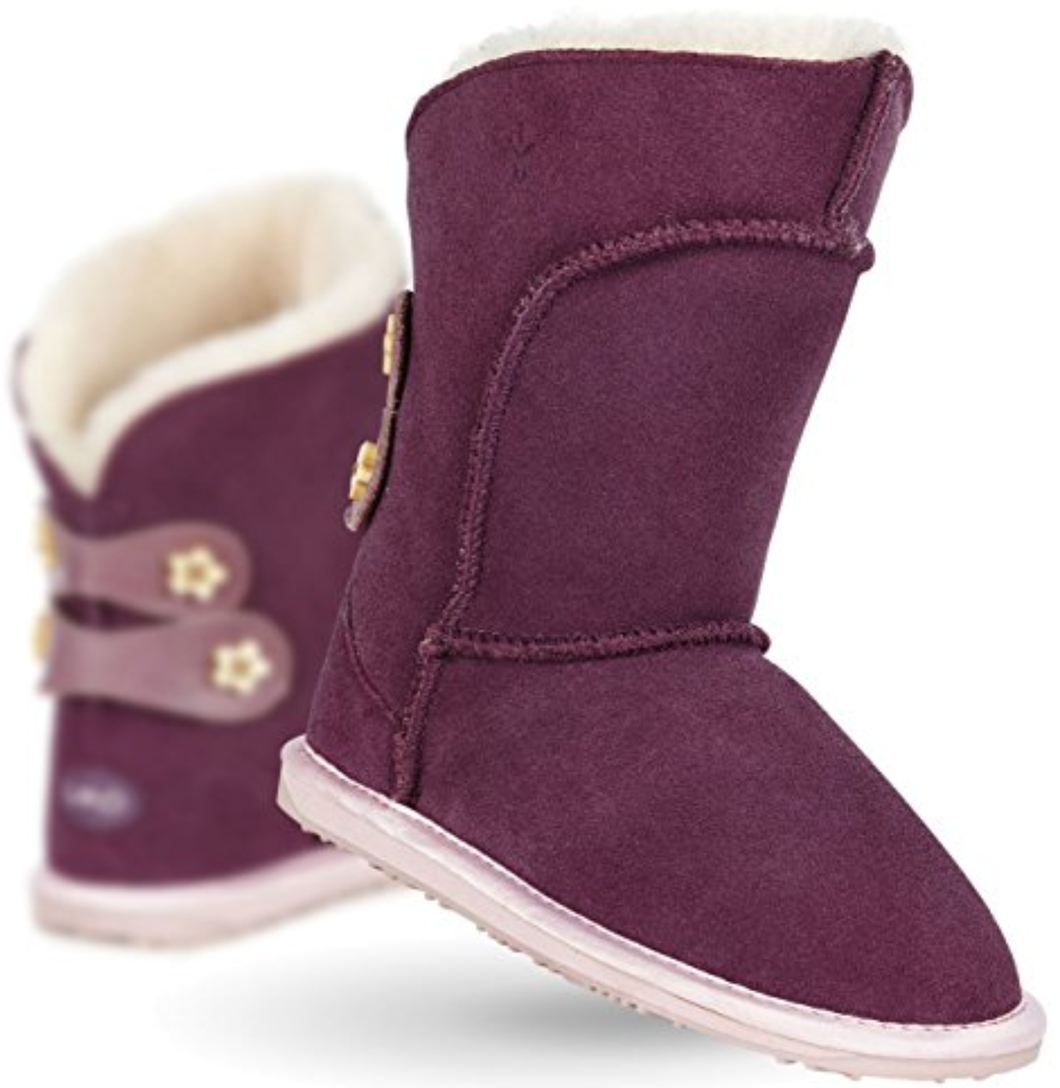 Girl's Emu Australia Alba Waterproof Boots. Purple