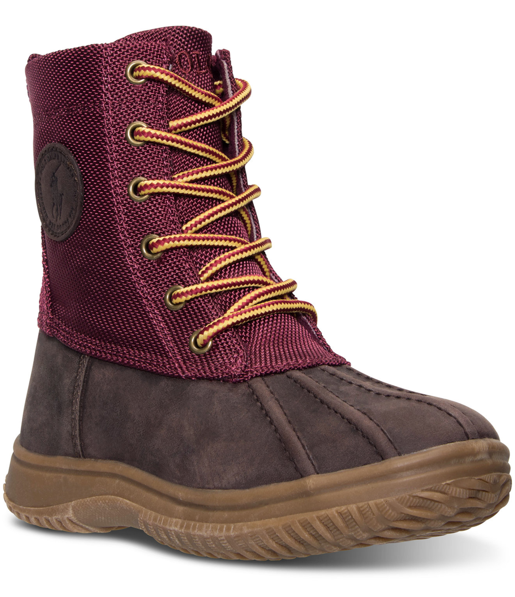 Youth Girl's Polo Duksbury Boots. Moroon\Chocolate