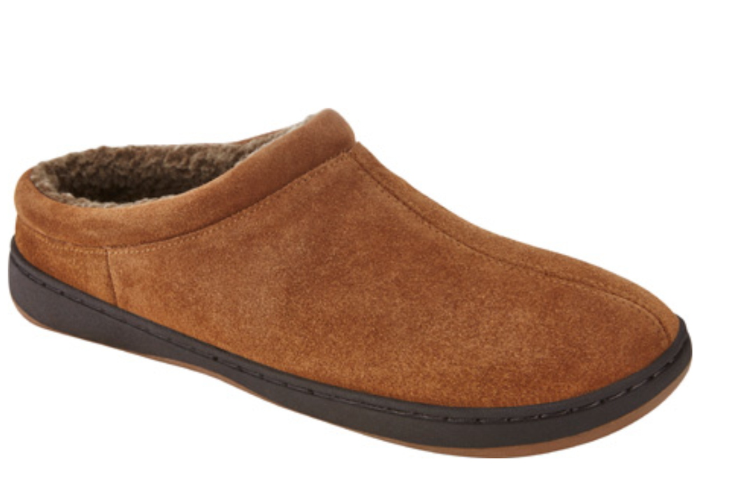 Men's Tempur-Pedic Arlow Slippers. Chestnut