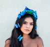 Princesa Blue butterfly headband set