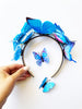Princesa Blue child butterfly headband set