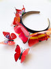 Princesa Red child butterfly headband set