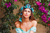 Aquamarine Dream Butterfly Crown
