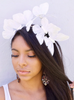 Iridescent White butterfly headband