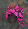 Mexican Pink butterfly fascinator