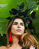 All Black Butterfly Fascinator