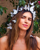 Florentina White butterfly crown