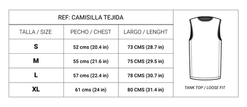 Tabla Tallas Camisilla