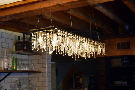 Industrial Chandelier at Soho Argentinian Bistro Novecento