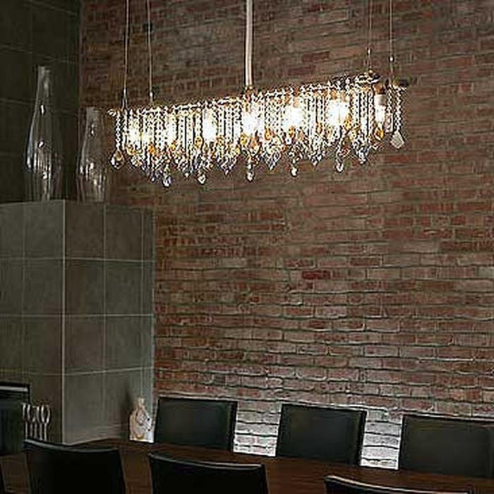 Industrial Banqueting Chandelier - unique artistic lighting from Michael McHale Designs